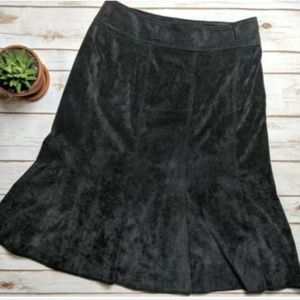 Larry Levine Flared A-Line Corduroy Skirt
